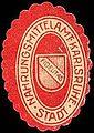 Siegelmarke Nahrungsmittelamt - Fidelitas - Stadt Karlsruhe W0227203.jpg