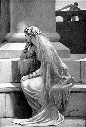 Hair fetishism - Sif (1909) by John Charles Dollman