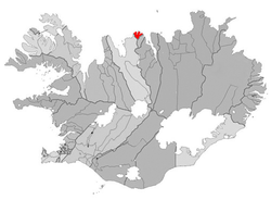 Location of the former Municipality of Siglufjörður