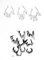 Silhouettes of hands on wall of cave showing mutilation... Wellcome M0003733.jpg