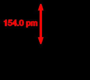 Silicon tetrafluoride - Image: Silicon tetrafluoride 2D dimensions