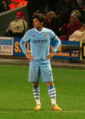 David Silva - Silva prior to a league match against Liverpool in 2011