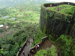 Sinhagad mountain in India