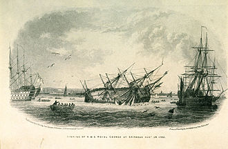 HMS Royal George (1756) - Sinking of Royal George