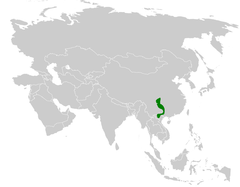 Sinosuthora alphonsiana distribution map.png