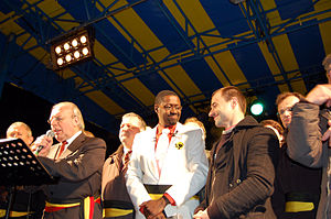 Freddy Willockx - Picture of the multicultural mass wedding event in Sint-Niklaas (2007)