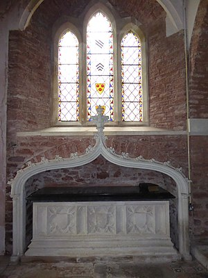 Sir Henry Carew, 7th Baronet - Monument to Sir Henry Carew, 7th Baronet, Haccombe Church