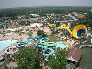 Six Flags New England - The water park at Six Flags New England