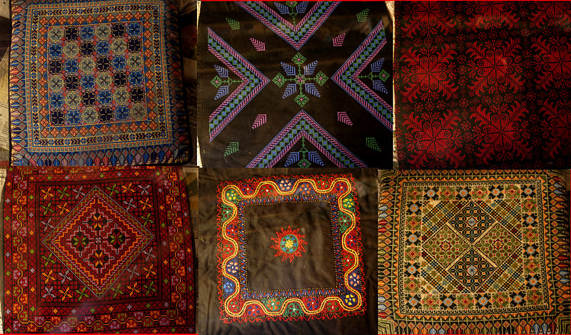 File:Six cushions from Palestine.jpg