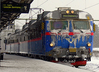 Nyköping - A SJ X12 at the 'Nyköping C' railway station.