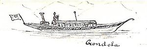 SY Gondola - Sketch of Gondola in 1890