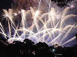End of Skyshow 2006 seen from golf course, corner of Ward Street and Mills Terrace, North Adelaide.