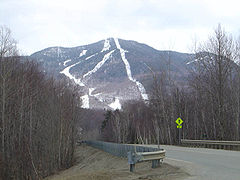 Smugglers' Notch as seen from the access road