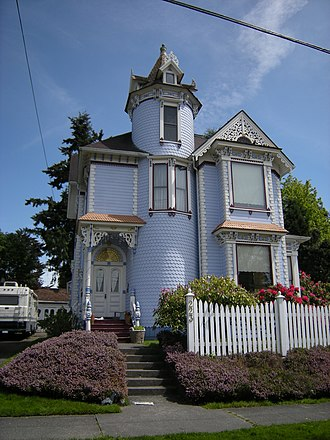 Snohomish, Washington - A house in Queen Anne style at 223 Avenue A.