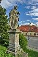 Socha před kostelem svatého Jiří, Velké Opatovice, okres Blansko.jpg