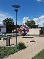 Solar street light, Smart bench, Rubik's Cube Scupture, 2020 Százhalombatta.jpg