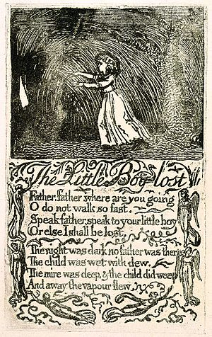 The Little Boy Lost - Image: Songs of Innocence, copy U, 1789 (The Houghton Library) object 14 The Little Boy Lost