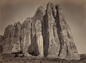 Geophotography - South side of Inscription Rock, New Mexico, by Timothy O'Sullivan, circa 1871