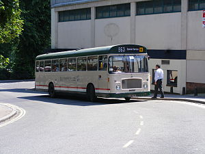 Southern Vectis - Eastern Coach Works bodied Bristol RE in post 1995 cream, red and green livery, June 2008