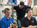 Soyuz TMA-07M crew training in the Space Vehicle Mock-up Facility at JSC.jpg