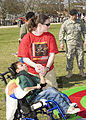 Special Olympic athletes and local volunteers participate and compete, in a game, at the Special Olympics, on Fort Gordon, Ga., Mar. 24 2010 100324-A-NF756-027.jpg