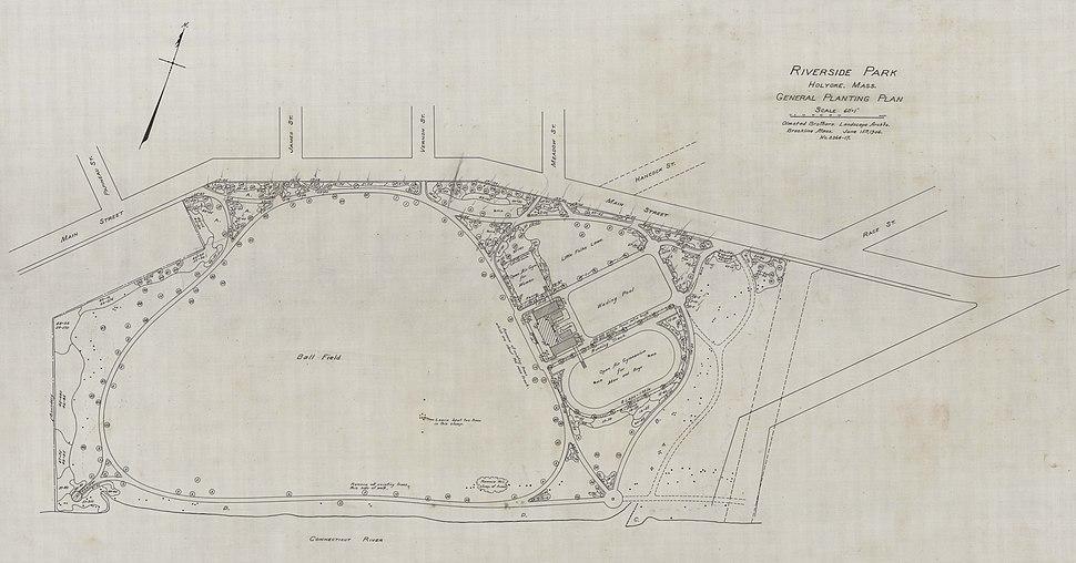 Springdale Park (Riverside) planting plan 1906