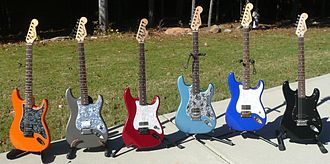 Fender Bullet - All factory colors for the Squier Bullet Special. All of these examples have been modified by the owner.