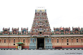 Sri Kandaswamy Kovil, Brickfields Hindi temple in Brickfields, Kuala Lumpur