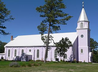 Todd County, South Dakota - Image: St. Charles Borromeo church (St. Francis SD) from S 1