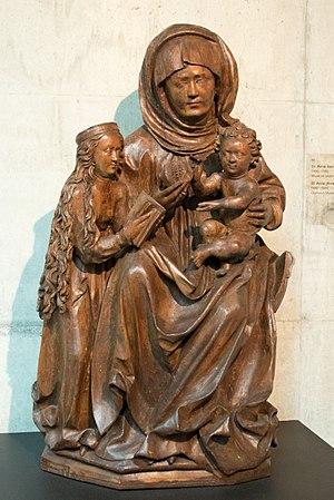 Virgin and Child with Saint Anne - St Anne (Anna Selbdritt), 1490-1500 AD, ArchbM Olomouc Museum