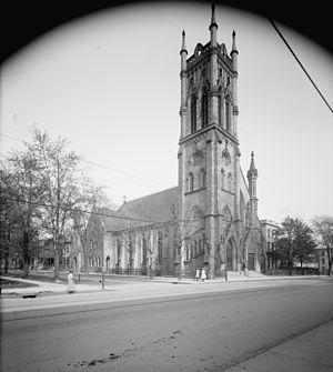 St. John's Episcopal Church (Detroit, Michigan) - St. John's Episcopal Church c. 1905