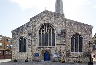 St. Michael's Church, Southampton - The west door was rebuilt in the 15th century