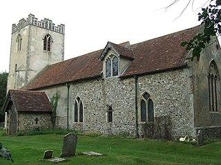 Wattisham village in United Kingdom