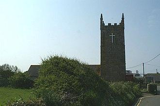 Sennen - Image: St Sennen's church, Sennen geograph.org.uk 169354