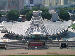 Volleyball at the 2008 Summer Olympics – Men's tournament - Image: Stadium of Beijing Institute of Technology