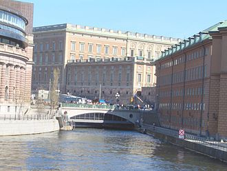 Geography of Stockholm - Stallbron is located where the first bridge in Stockholm was found.