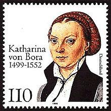 500 Jahre Katharina von Bora: Deutsche Sonderbriefmarke von 1999 (Quelle: Wikimedia)