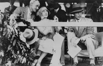 Queen Elizabeth The Queen Mother - The Duke (right) and Duchess of York in Queensland, 1927