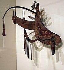 Stati uniti, alaska, yup'ik, maschera rituale con 'cigno e ballerina', 1910 ca. 01.JPG