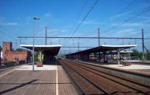 Aalst railway station - A view of the platforms