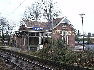 Soestdijk railway station - Image: Station Soestdijk