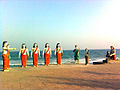 Statues of Pandavas at Bheemili Beach Visakhapatnam.jpg