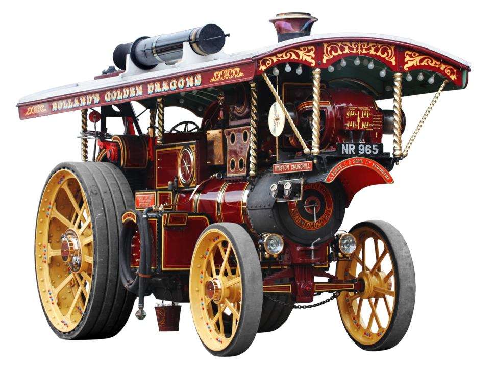 Steam powered road-locomotive from England