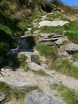Steep climb to the top of Pistyll Rhaeadr - geograph.org.uk - 978918