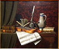 Still Life with Violin by William Michael Harnett, 1886, oil on canvas - New Britain Museum of American Art - DSC09308.JPG