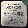 Stolperstein Conradstr 5 (Wanns) Alice Cohn.jpg