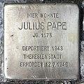 Stolperstein Düsseldorfer Str 42 (Wilmd) Julius Pape.jpg