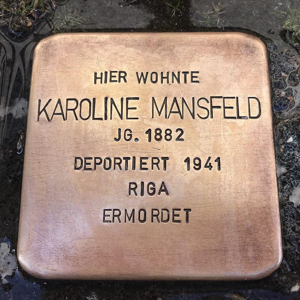 Stolperstein Karoline Mansfeld in Lüchow (Wendland).jpg