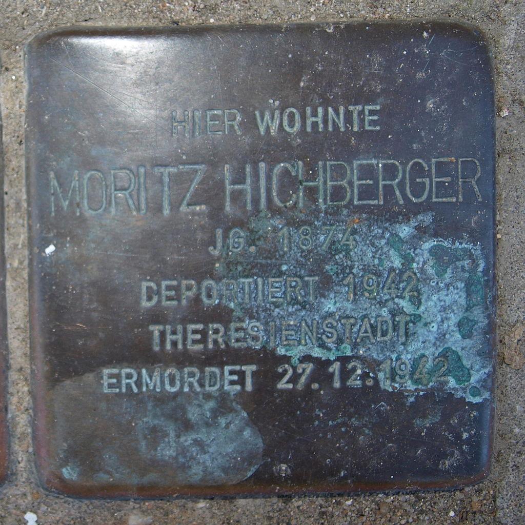 Stolperstein Kitzingen Obere Bachgasse 26 Moritz Hichberger