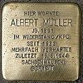 Stolperstein SG Albert Müller KSG 5349 pK.jpg